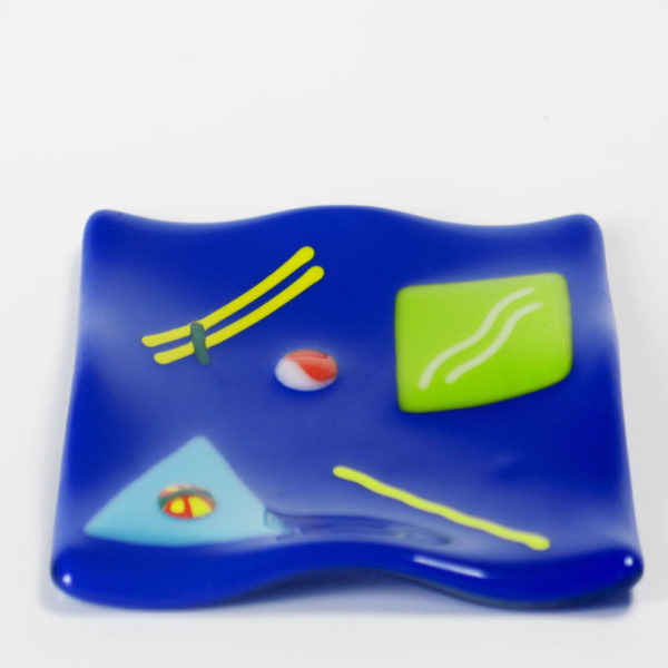 Colorful Fused Glass Plate