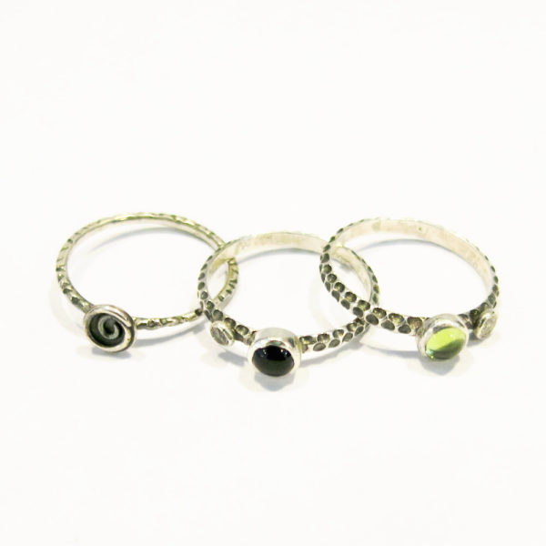 Set of 3 Sterling Silver Rings
