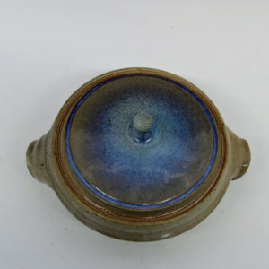 Beautifully Glazed Stoneware Lidded Casserole Dish
