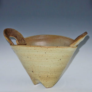 Stoneware Elliptical Bowl