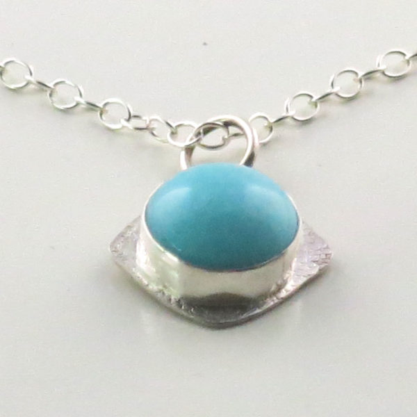 Sterling Silver Pendant with Amazonite Stone