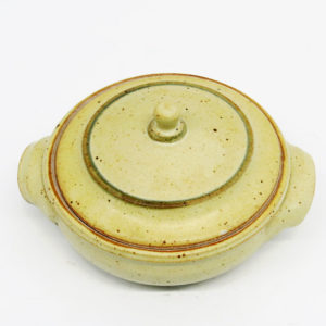 4 Cup Speckled Yellow Lidded Stoneware Casserole Dish