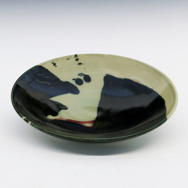 Abstract Porcelain Shallow Bowl